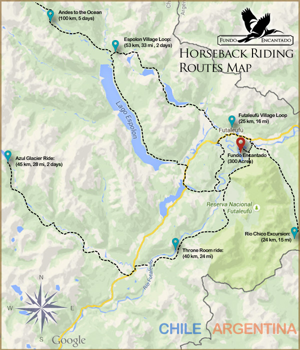 Horseback Riding Routes Map